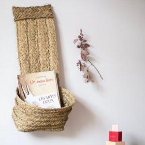 panier de rangement accroché au mur, vendu par trendy little