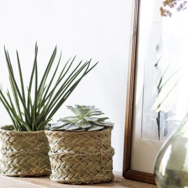 cache-pot en esparto pour plantes, par Trendy Little