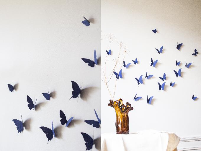 envolée de papillon bleu foncé trendy little