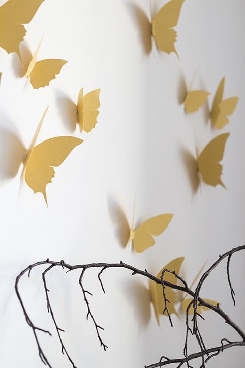 envolée de papillon doré trendy little