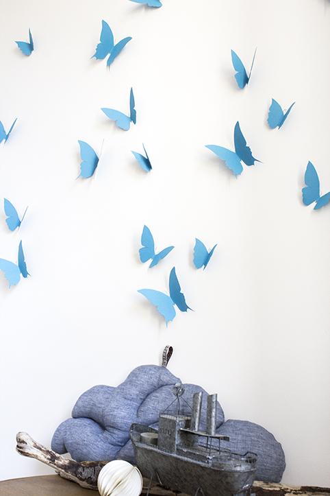 envolée de papillon bleu turquoise trendy little