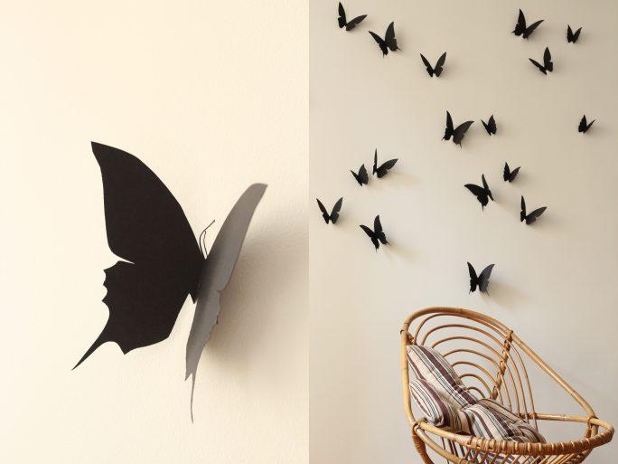 envolée de papillon noir trendy little