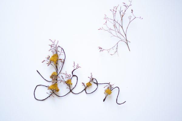 Prénom en fleurs séchées Léon, créé par Trendy Little