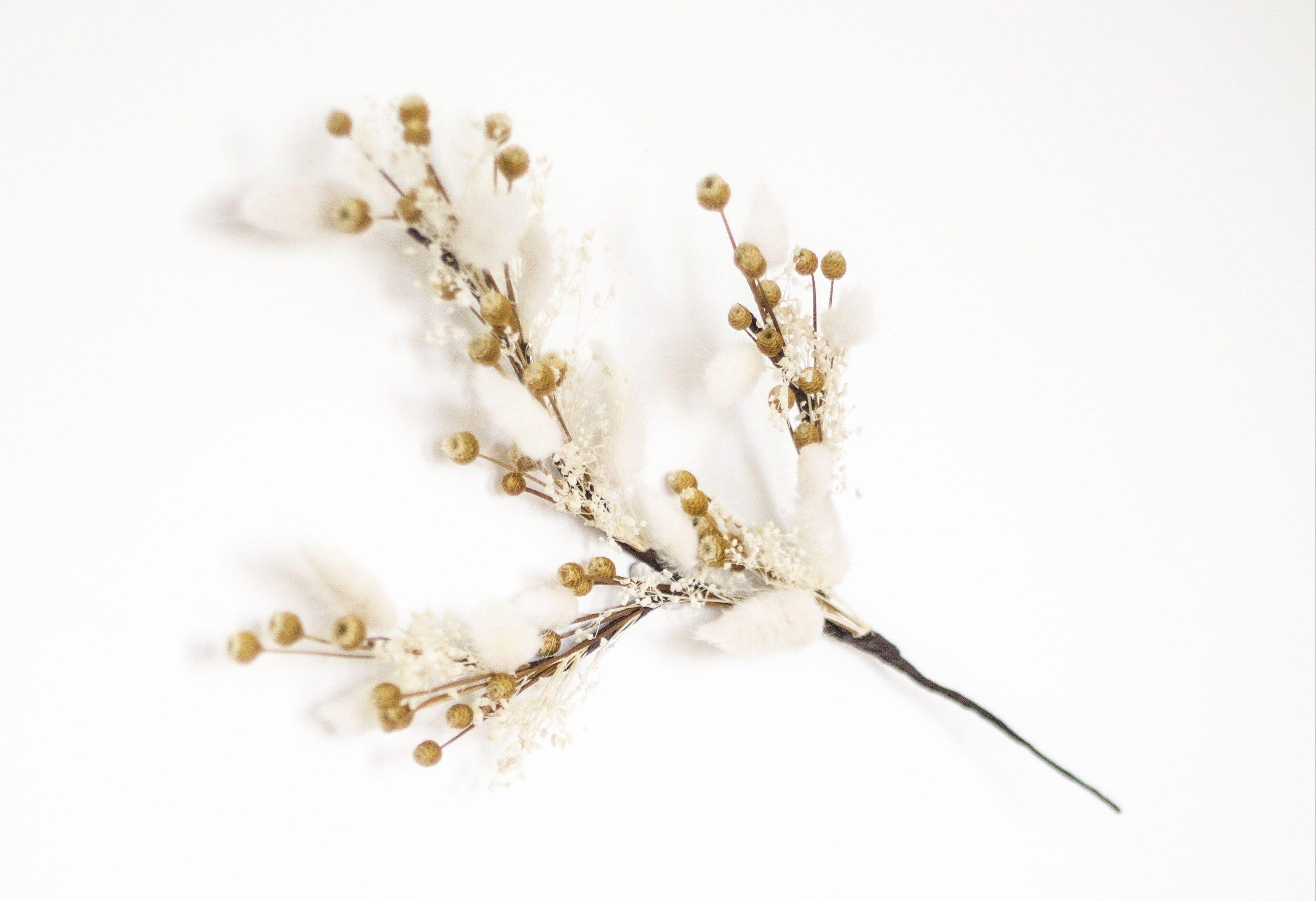 Déco fleurs séchées fabriquées par Trendy Little