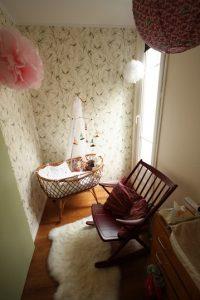 Berceau rotin chambre bébé TRENDY LITTLE
