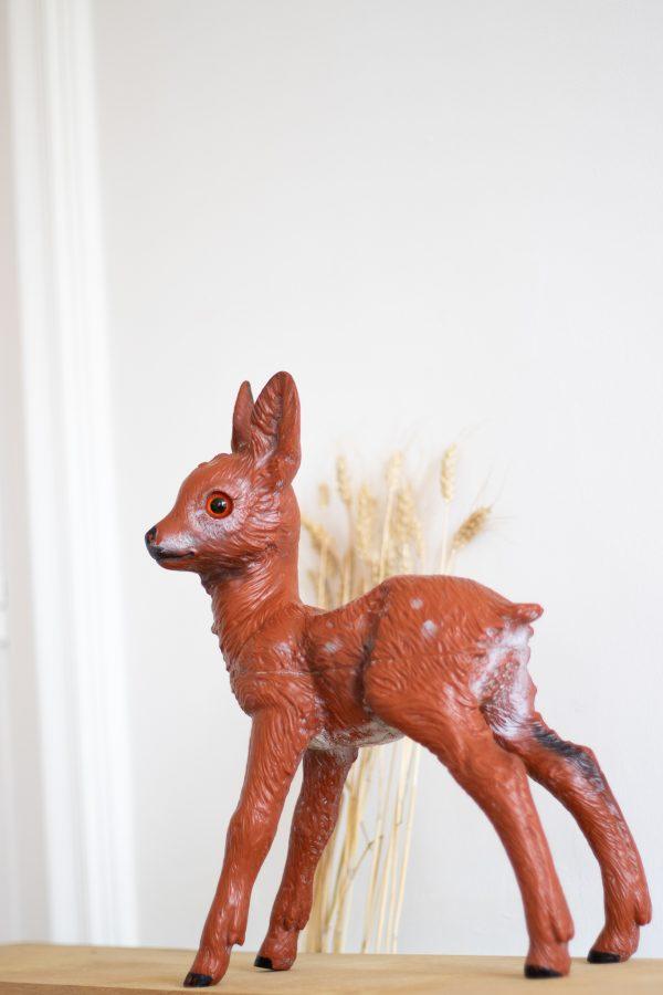 Grande figurine de faon vintage