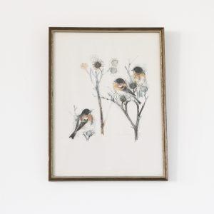 Illustration enfant, sérigraphie de trio d'oiseaux, oeuvre de Mads Stage imprimé au Danemark. Vendu par Trendy Little.