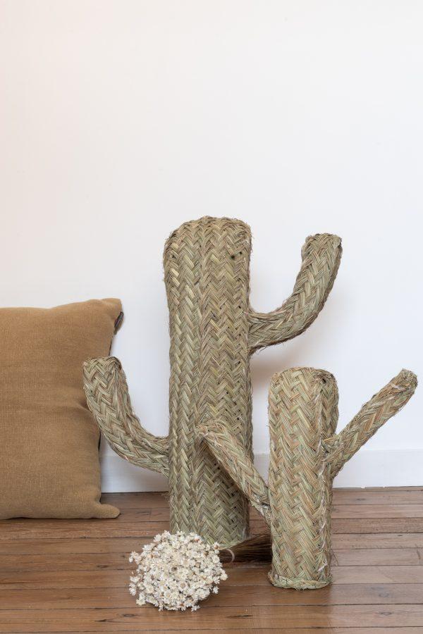 Objet déco cactus en alfa tressé, à la vente sur la boutique Trendy Little