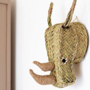 Trophée en esparto rhinocéros vendu par Trendy Little