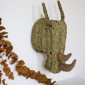 Trophée mural tête de rhinocéros