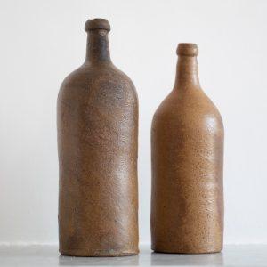 Vase bouteille en grès chiné par Trendy Little