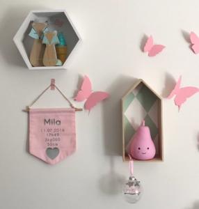Envolée de papillons rose Trendy Little chez Sarah