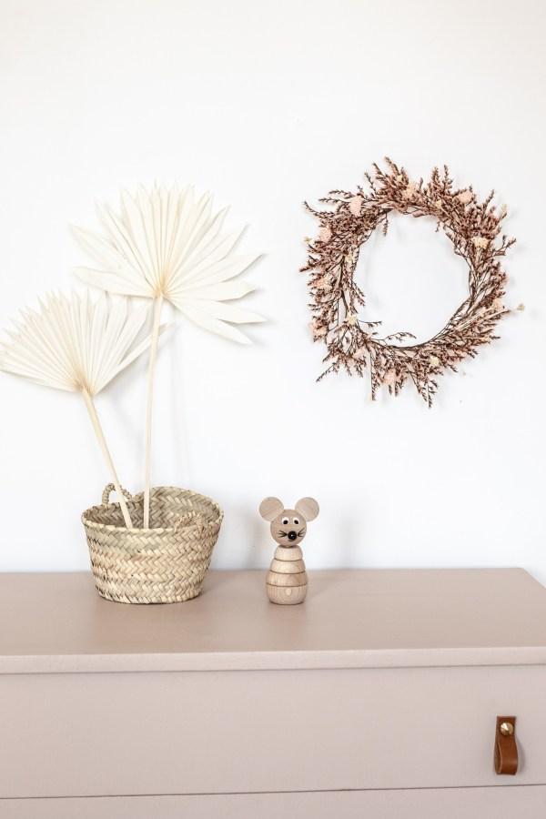 Couronne de fleurs séchées Trendy Little