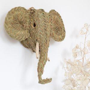 Trophée animal tête d'éléphant, déco murale pour chambre enfant, vendu par Trendy Little