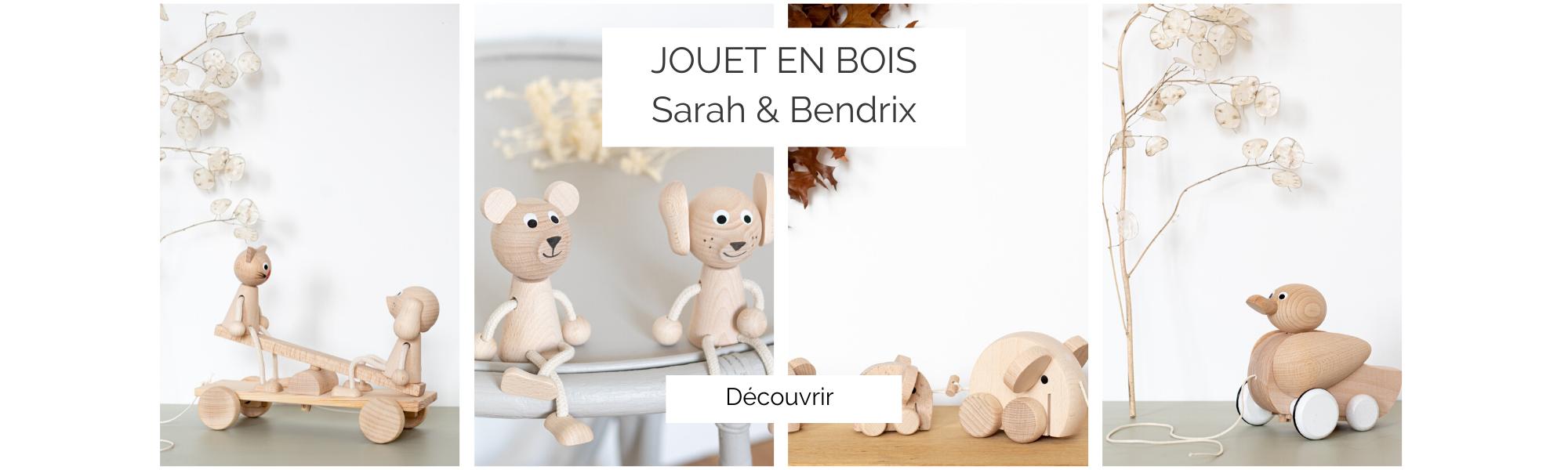 Jouet en bois naturel Sarah and Bendrix, vendu par Trendy Little