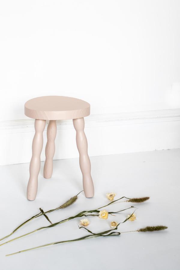 Tabouret vintage rose nude Trendy LIttle