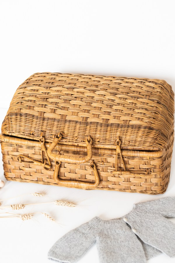 Valise en rotin vintage Trendy Little