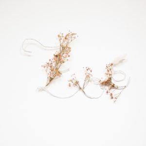 Prénom en fleurs séchées création Trendy Little