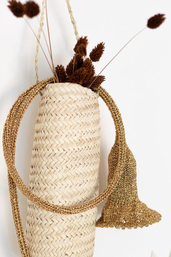 Lampe baladeuse collerette doré création Trendy Little