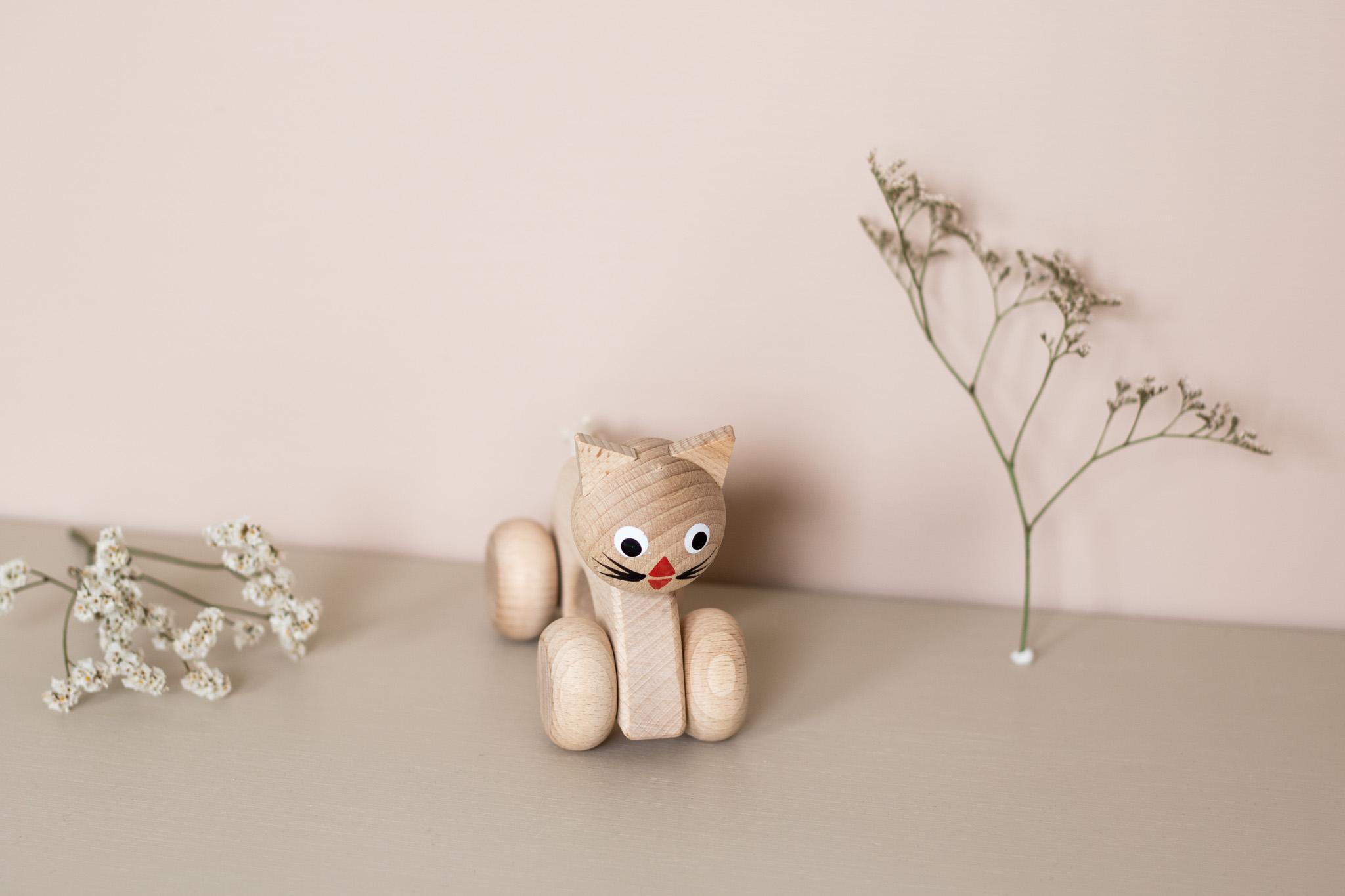 Chat jouet en bois Sarah and Bendrix