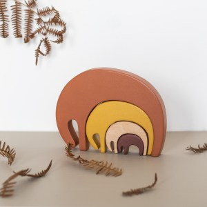 Elephant jeu de construction en bois coloré Pinchtoys