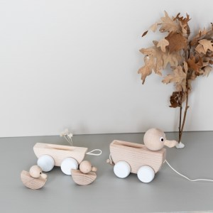 Famille de canard jouet en bois à tirer Sarah and Bendrix