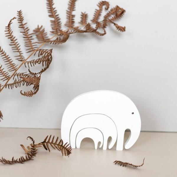 Puzzle en bois éléphant blanc Pinchtoys
