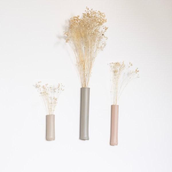 Lot de 3 soliflores muraux en bambou, création Trendy Little