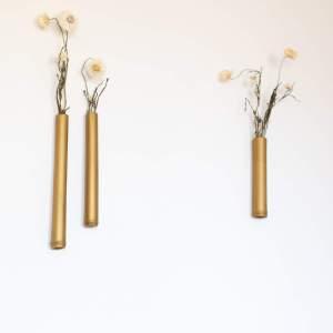 Trio de soliflore en bambou doré créé par Trendy Little