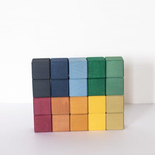 Cubes colorés en bois Raduga Grez